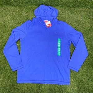 NEW PUMA Hooded Long Sleeve Jersey Lifestyle Shirt
